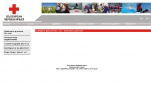 Празна страница вместо формуляр или информация за даряване.